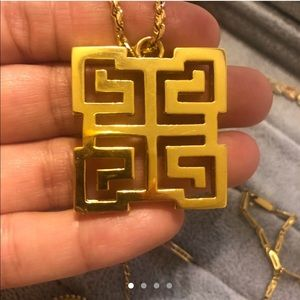14k Gold Greek style pendant